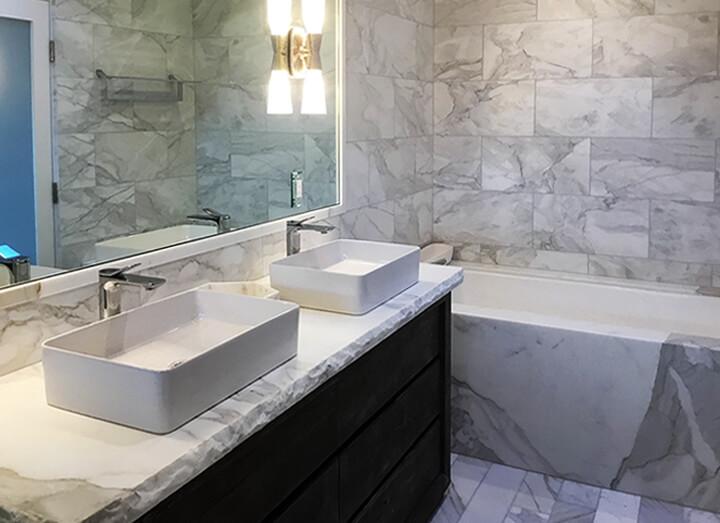 Calacatta Marble Bathroom Murrer Construction