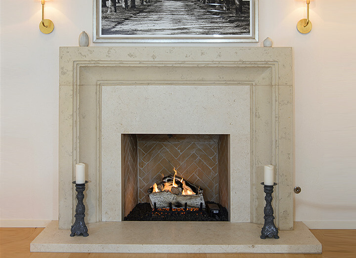 Giada Italian Fireplace Marble Hearth Murrer Construction